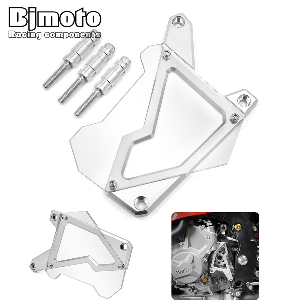 ФОТО FSC-BM001 Motorcycle Front Sprocket Cover Panel Left Engine Guard Chain Cover Protection For BMW S1000R  2014-2015 S1000RR