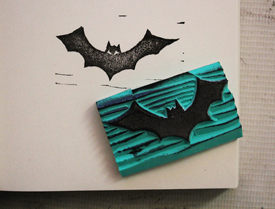 Custom-Bat-rubber-stamp-logo-1pcs-inkpad