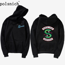 Wholesale Hoody women hoodie Green Snake Patches Riverdale South Side Snake Patch Hoodie Sweatshirt Front and back patch army green zipped front and back jacket with side pockets