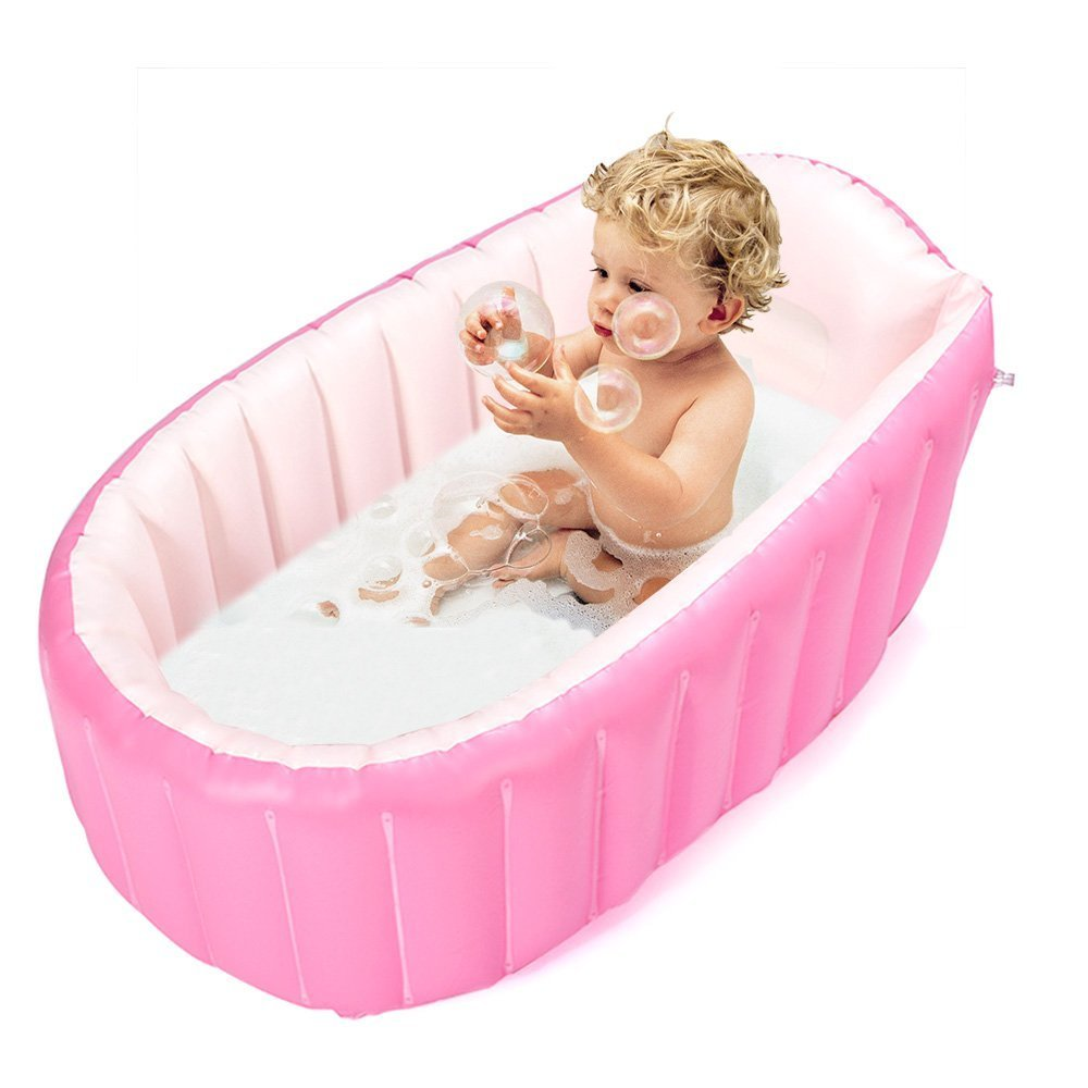 air bathtubs for babies in india. inflatable bak mandi bayi, mini air kolam renang anak bayi balita tebal lipat baskom dengan bantal lembut kursi (pink) di \u0026 portable bathtubs for babies in india