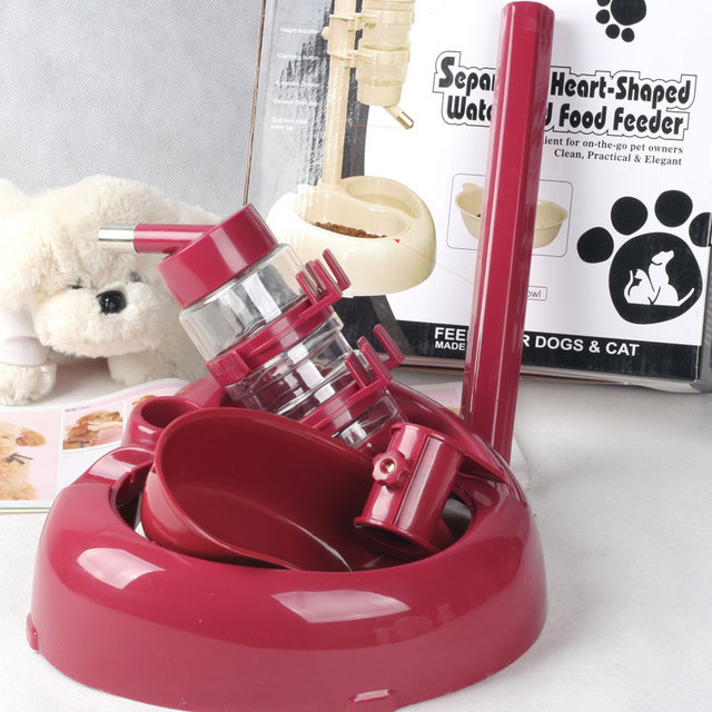 Pet drinking and food station