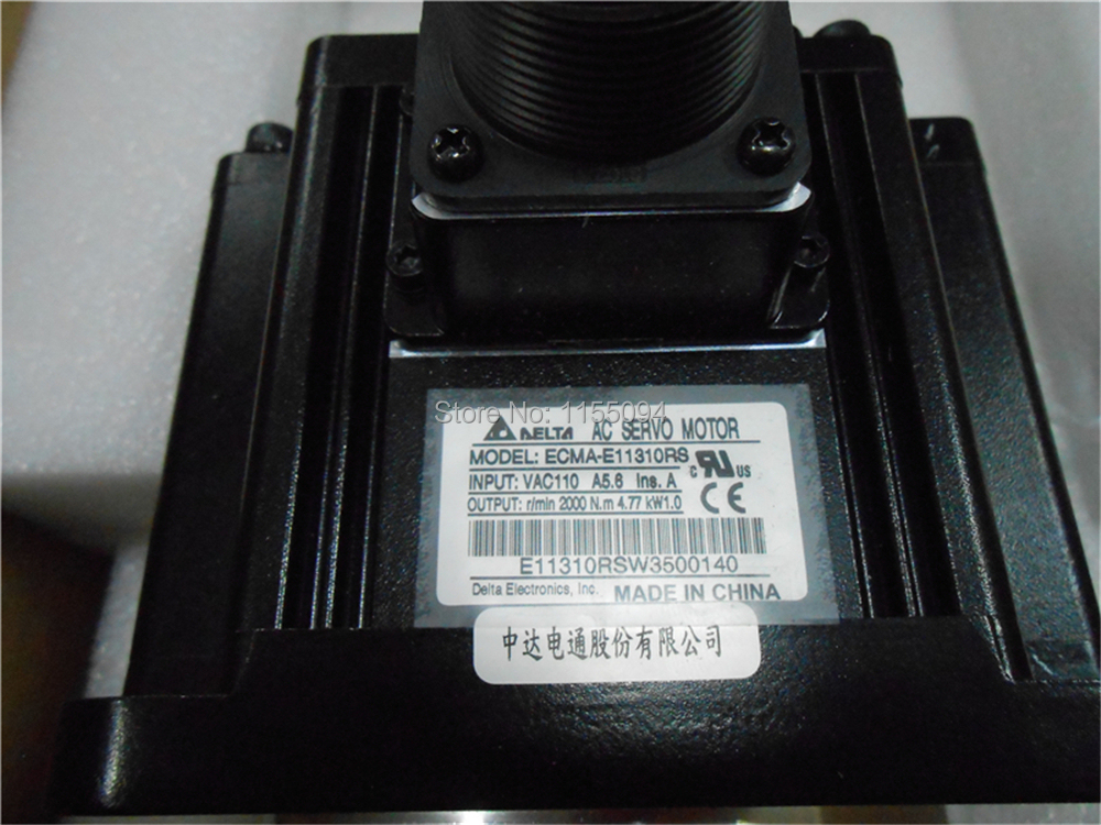 220V 1KW 4.77NM 2000rpm 130mm ECMA-E11310RS Detla AC Servo Motor with Keyway oil seal New new original ecma e21315rs 220v 1 5kw 7 16nm 2000rpm 130mm ac servo motor with oil seal