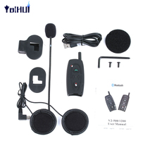 2pcs 500M Interphone Headset Motorcycle Intercom Walkie Talkie Bluetooth Motorcycle Helmet