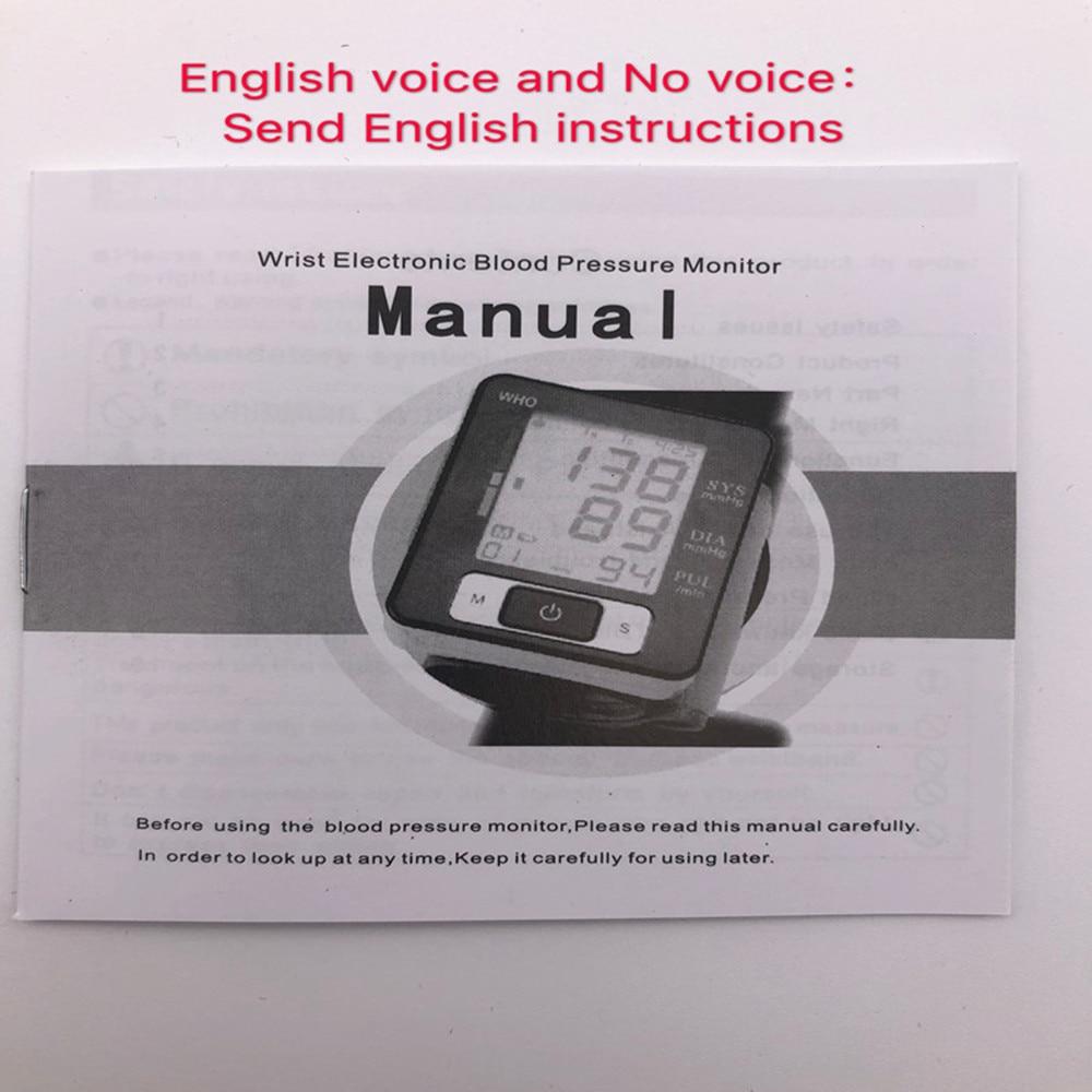 Monitor inglés o ruso voz medidor brazalete