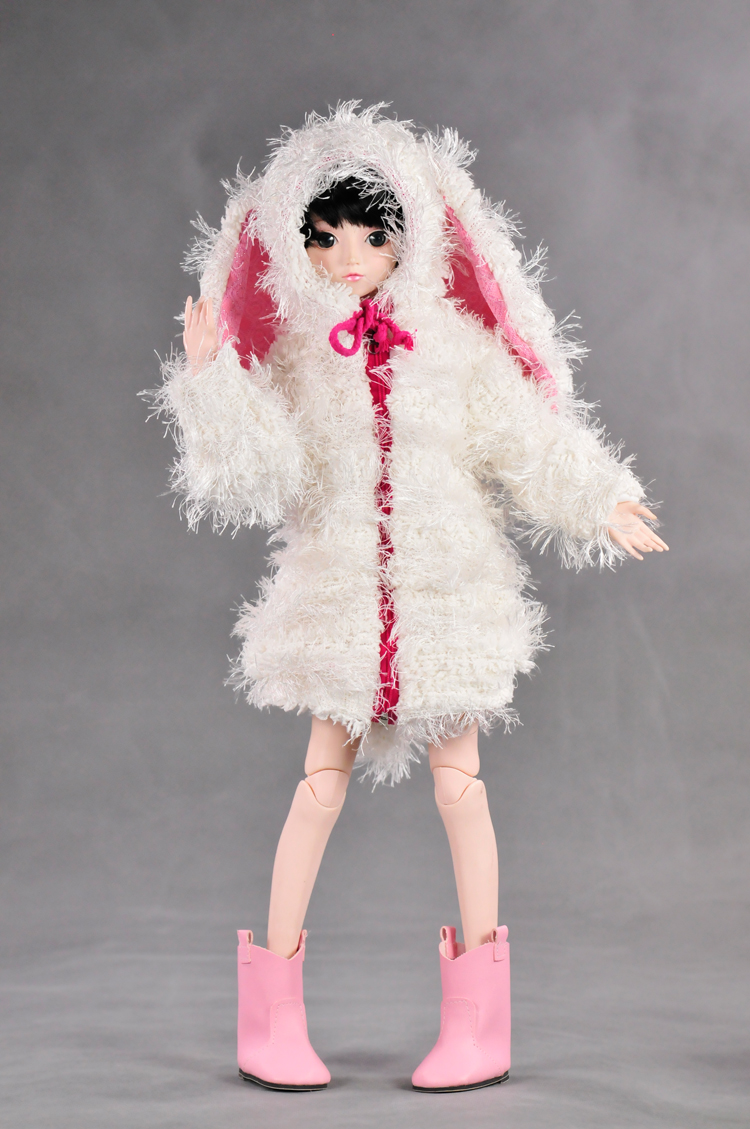 Cloth Wear Fit For 55cm-60cm 1/3 BJD Dolls Toy White Lovely Rabbit Coat Washing Handmade High-end Doll's Clothing Accessories tang dynasty shangguan wan er 12jointed doll 31cm high end handmade chinese costume dolls limited collection bjd 1 6 moveable