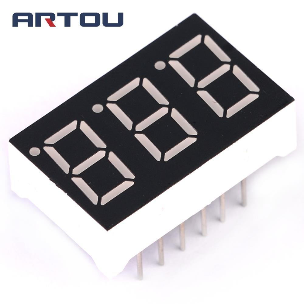 10PCS 0.36 Inch 3 Bit Digital Tube Red Led Display Series Voltage Panel Common Cathode