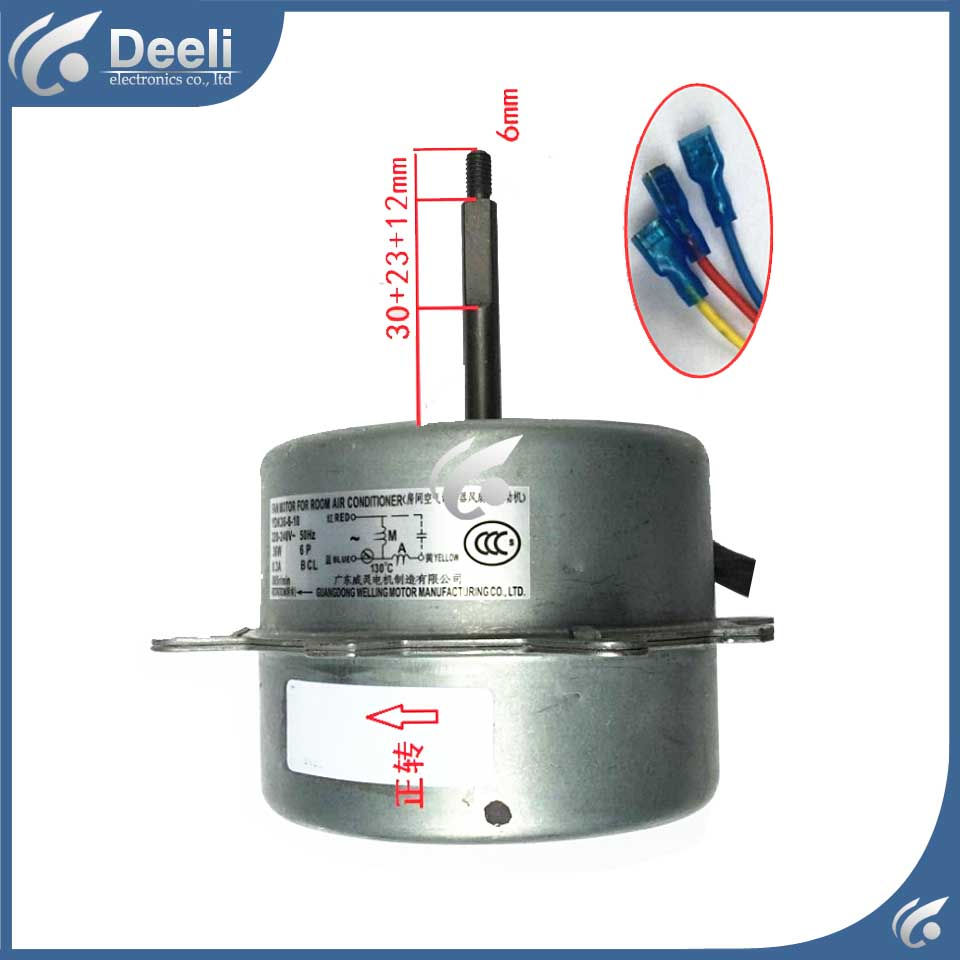 new good working for Air conditioner inner machine motor YDK36-6-10Y Motor fan 220V 95% new original for midea air conditioning fan motor ydk36 4c a ydk36 4g 8 4g 8 36w direction of departure