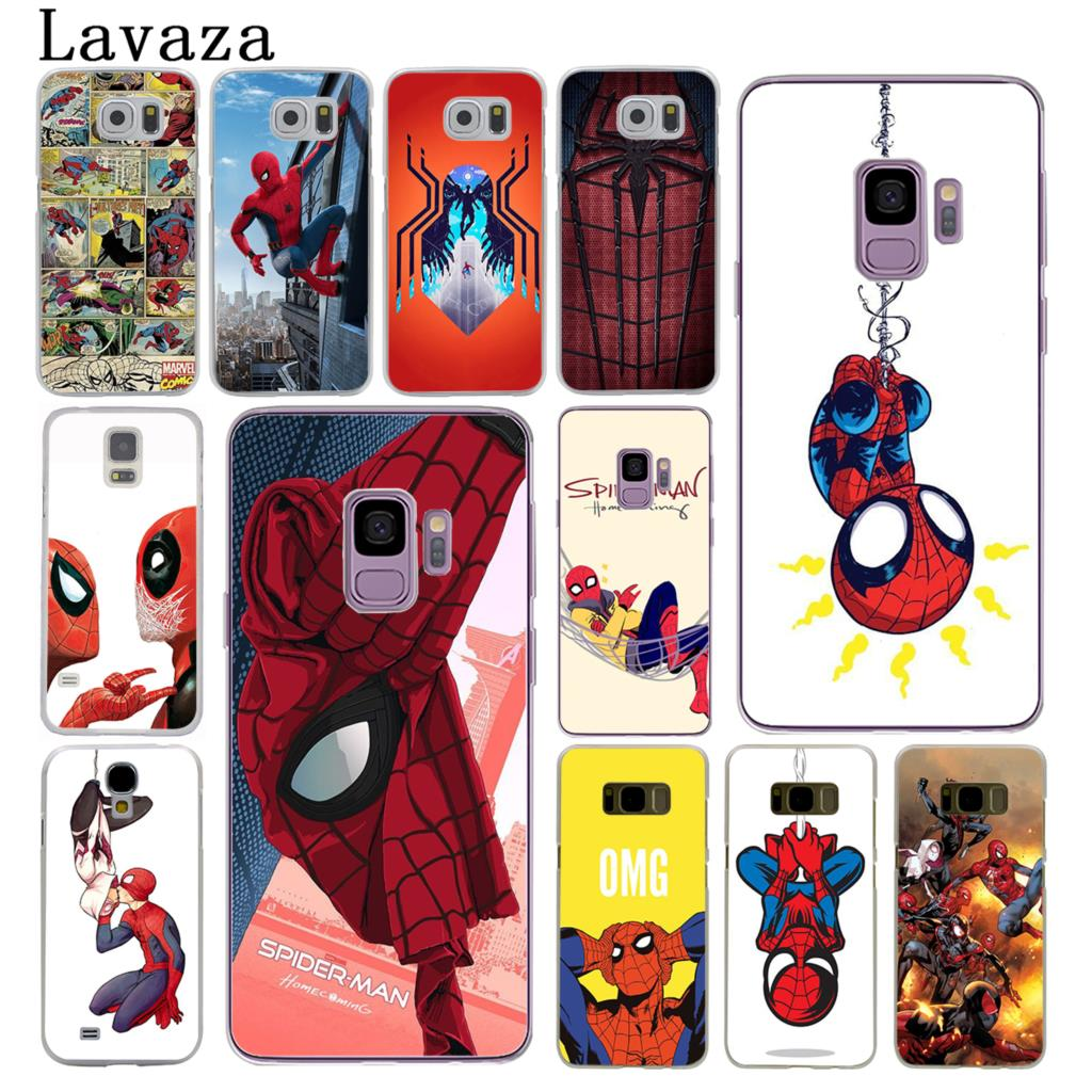 Marvel Spider-Man Spider Man Comics Homecoming Hard Case for Samsung Galaxy S3 S4 S5 & Mini S6 S7 Edge S6 S8 Edge Plus marvel glass iphone case