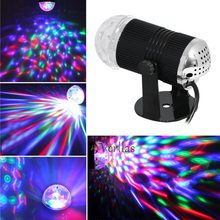 Mini Rgb Led Crystal Magische Bal Stadium Effect Verlichting Lamp Party Disco Club Dj Lichtshow Lumiere(China)