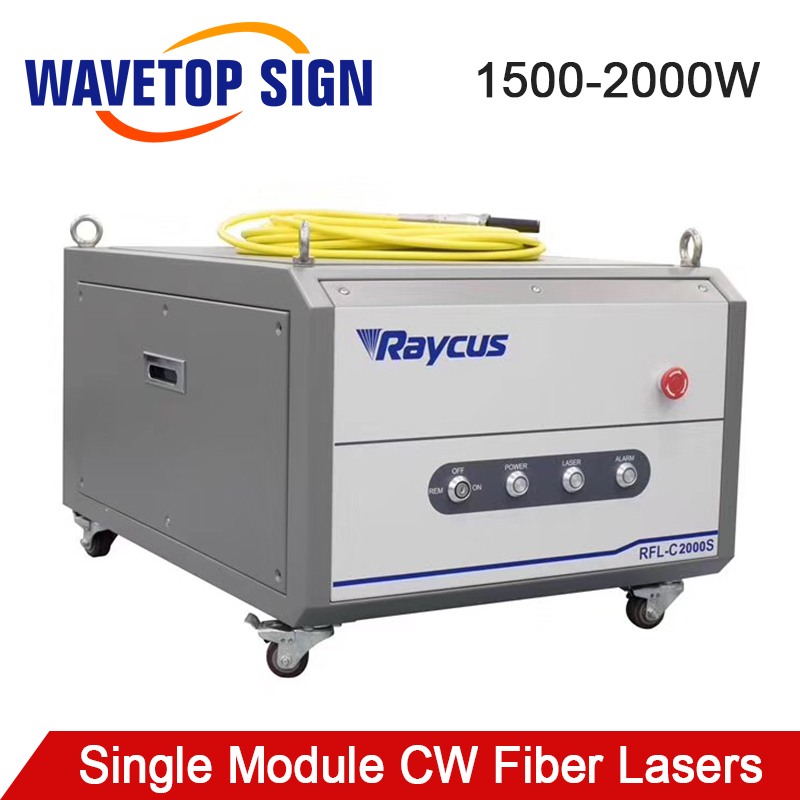 WaveTopSign Raycus 1500-2000W Single Module CW Fiber Lasers Series RFL-C1500S RFL-C2000S 1064nm For Fiber Cutting Machine