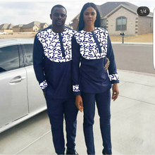 H & D/2019 комплект одежды для пары в африканском стиле для мужчин и женщин