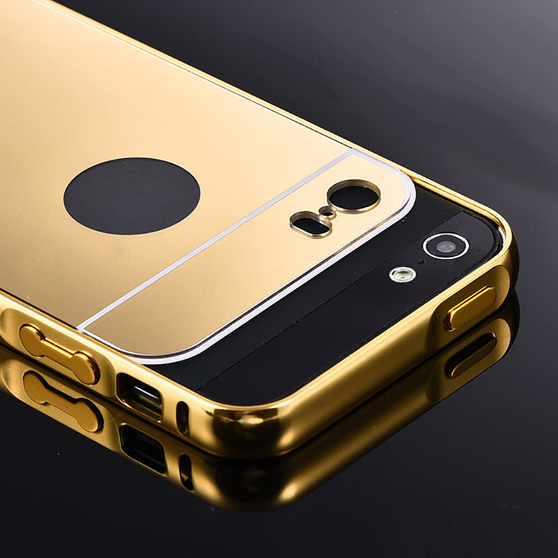 official photos 81d1d 4cbd1 Beworlder For Apple iPhone 5S 5 iPhone5S Gold Color Matel Frame ...