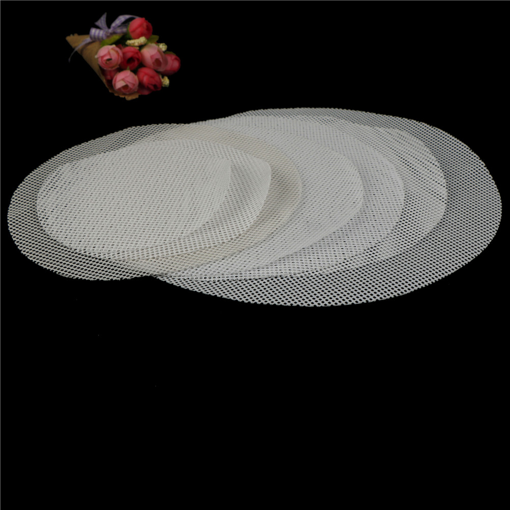 Bakeware Home & Garden 6 Sizes White Silicone Steamer Non-stick Pad Round Dumplings Mat Steamed Buns Baking Pastry Dim Sum Mesh Cooking Case