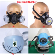 Industrie Veiligheid anti stof Werk masker Schilderen Spray Pesticide Siliconen Chemicaliën Met Respirator Half gezicht gasmasker
