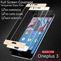 Oneplus 3 cubierta de la película del protector de pantalla de vidrio templado colorful para uno más 3 tres oneplus a3000 blanco negro oro