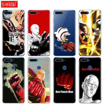 Silicone Cover Phone Case For Huawei Honor 7A PRO 7C Y5 Y6 Y7 Y9 2017 2018 Prime anime One Punch Man