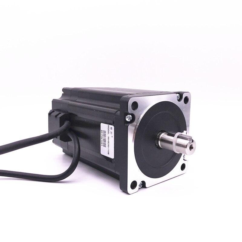Nema 34 12.5N.m Kit de moteur pas à pas en boucle fermée servomoteur Hybird HB860H + 86HB250-156B 86 moteur pas à pas 2 phases - 3