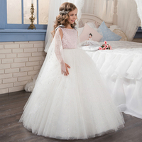 2017 New Holy Communion Dresses With Capelet Pink Beading Sleeveless Zipper Back Kids Evening Gowns Prom