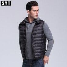Syt down вниз slim зимние короткие куртка жилет бренд мужской пальто