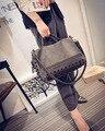 2016 New Fashion Locomotive Rivet Shoulder Diagonal Cross Crack Bag Retro Handbags Shoulder Messenger Bag