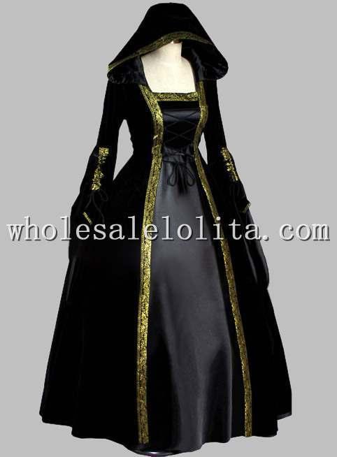 لباس مجلسی جادویی سیاه و طلایی - ماسک و تن پوش کارتونی