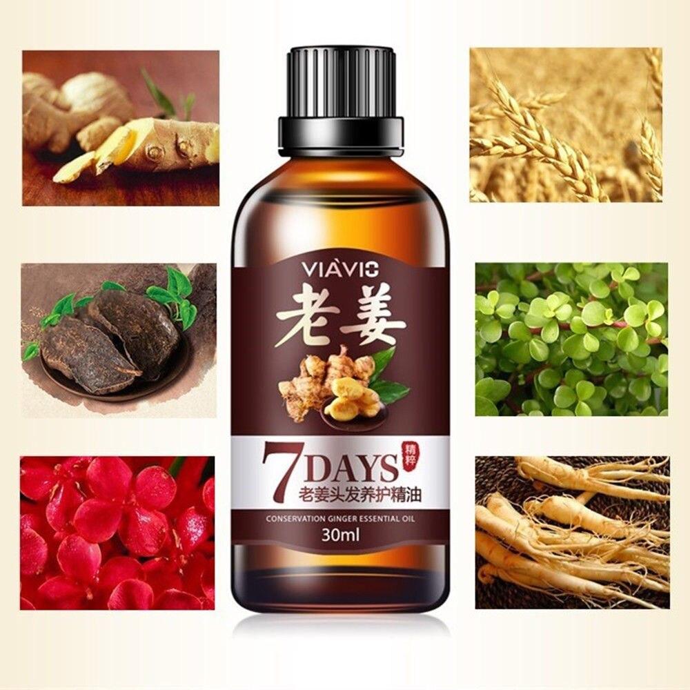 30ml Hair Loss Treatment Ginger Hair Care Fast Hair Growth Essence Oil for Men Women TSLM2 3