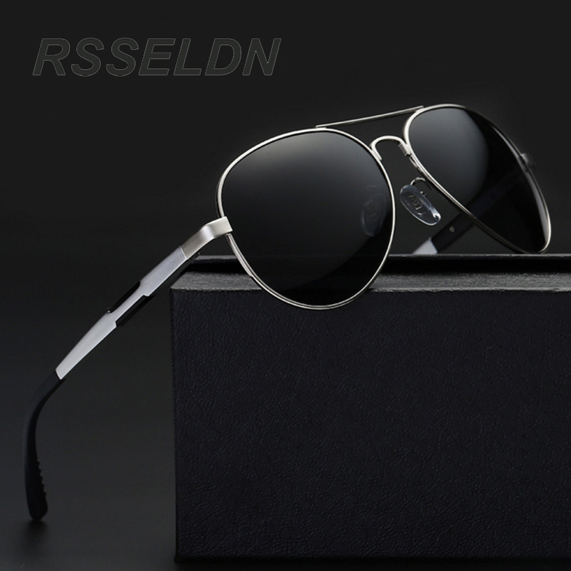 RSSELDN Hot 2017 Fashion Men s UV400 Polarized coating font b Sunglasses b font men Driving