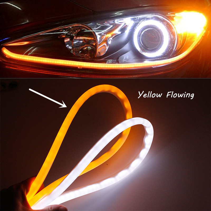 "2x18/"" 5 mode Switchback Flowing Knight Turn Signal Brake Light Car DRL LED Strip"
