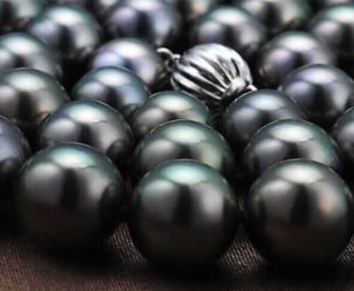 Genuine Natural 10-11mm tahitian black Pearl necklace 18inch >>>Free shippingGenuine Natural 10-11mm tahitian black Pearl necklace 18inch >>>Free shipping