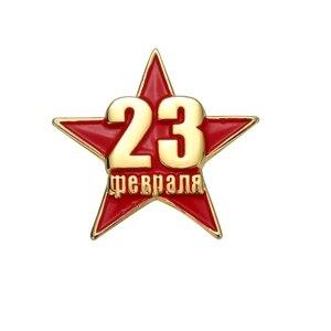 День защиты родины, штырьковый значок В. В. Путина, орден и медали российской армии и России, эмблема России
