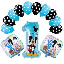13 шт. вечерние воздушные шары из латексной фольги с изображением милой мышки для вечеринки в честь Дня Рождения