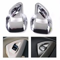 2Pcs New silver ABS Chrome Car Rear Door Lift Window Switch Button Cover Trim For Ford Escape Kuga 2013 2014 2015 Focus 3 MK3