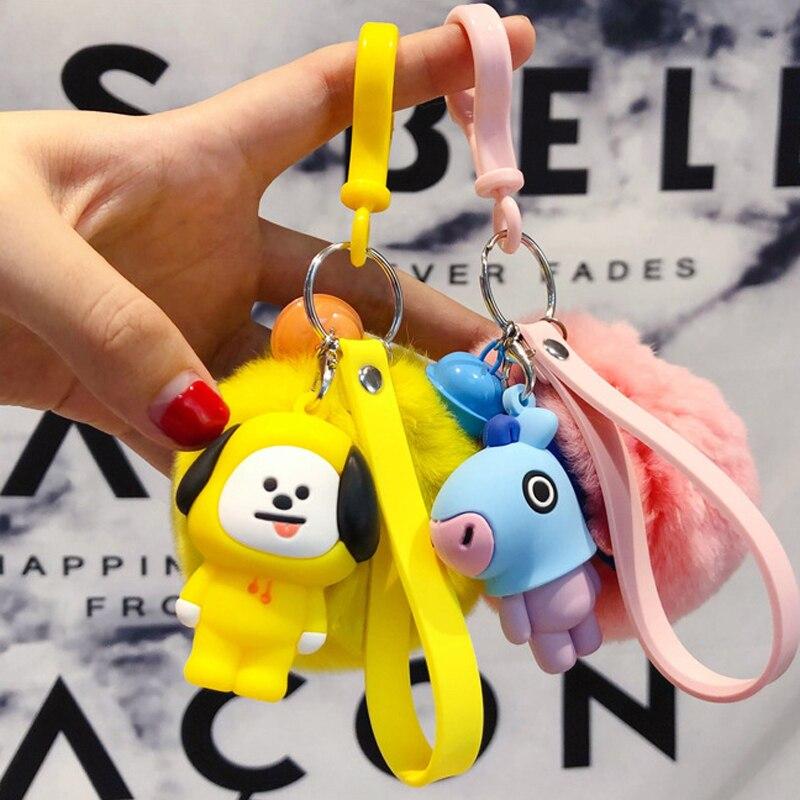 Stuffed Animals & Plush Bt21 Kawaii Plush Keychain Bts Llavero Koala Tata Chimmy Plush Toys Stuffed Cute Bt21 Trinket For Children Girl Soft Gifts Keys To Ensure A Like-New Appearance Indefinably