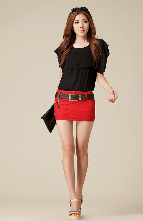Spring and Summer Slim Hip Women Denim Micro Mini Skirt  Fashion ...