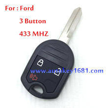 Car Key For Ford Edge Remote Control 3Button 315MHZ//433MHZ For Car Ford  Free Shipping