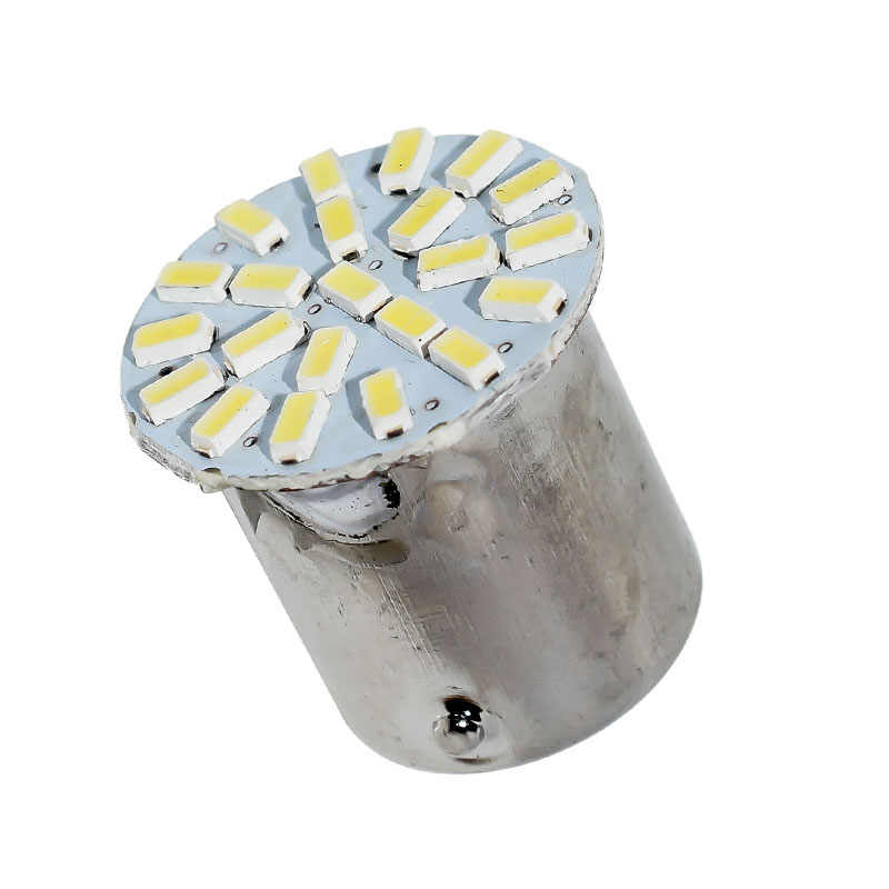 Super Bright 1156 22 LED 3014 SMD P21W BA15S Car Rear Tail Parking Lights Motorcycle Fog Lamp Auto Brake Bulb DC 12V White
