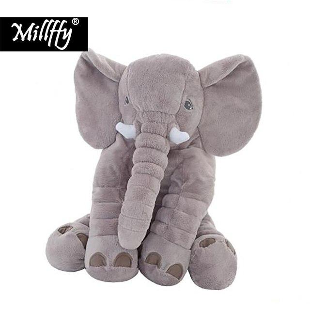 Dropshipping 40/60 cm Playmate Infantil Apaziguar Elefante Elefante de Pelúcia Macia Boneca Calma Bebê Elefante de Brinquedo de Pelúcia Travesseiro Brinquedos recheado