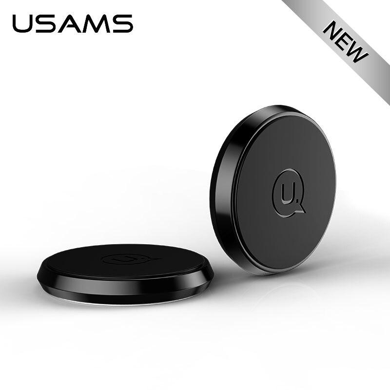 USAMS Magnétique Collé Téléphone Titulaire pour iPhone Samsung Huawei Xiaomi Universel De Voiture Support de Téléphone Forte Magnétique Portable Praticle