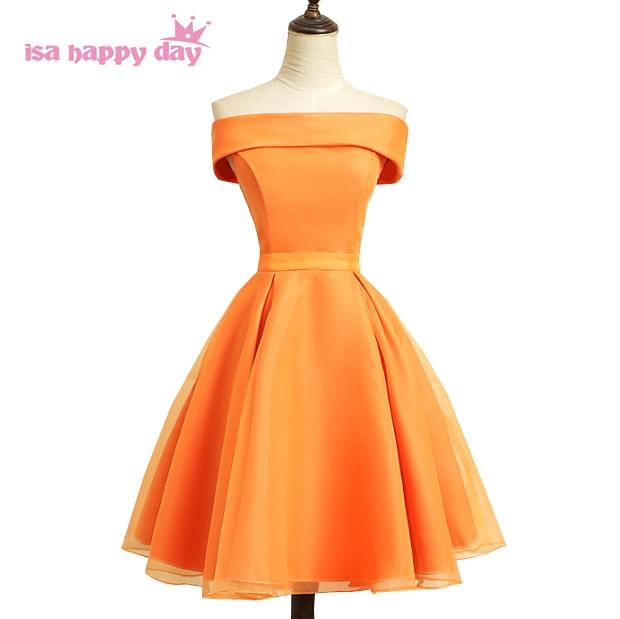 Orange Short Formal Dresses
