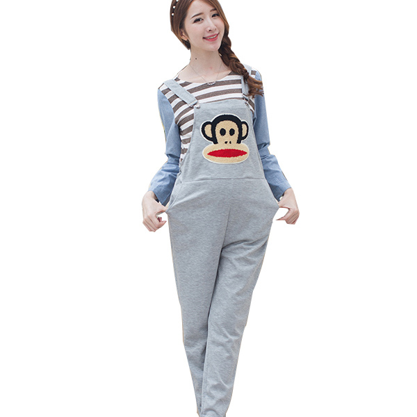 07e52260bf3b Summer Black Cartoon Pregnant Overalls Maternity Jumpsuits Rompers  Pregnancy Women Causal Suspender Bib Pants Plus Size Clothes-in Pants    Capris from .