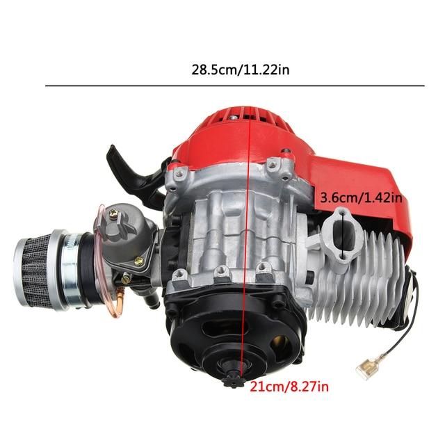 49cc 2 Stroke Mototcycle Complete Engine Motor With Air Filter Carburetor Bike Mini Dirt ATV Quad|Engines|   -