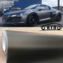 Pellicola adesiva antracite grigio scuro opaco metallizzato opaco metallizzato per auto con rivestimento in lamina di canna di fucile