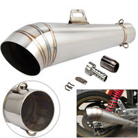 Motorcycle GP Exhaust Muffler Pipe Slip On 51mm With DB Killer For Kawasaki Honda Yamaha KTM EXC KLX CRF YZF WRF RMZ 250 450 GY6