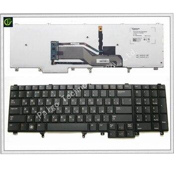 Ruso Teclado retroiluminado para Dell Latitude E6520 E5520 E5530 E6530 E6540 M4700 M6700 E5520M M4600 M6600 M6800. trackpoint