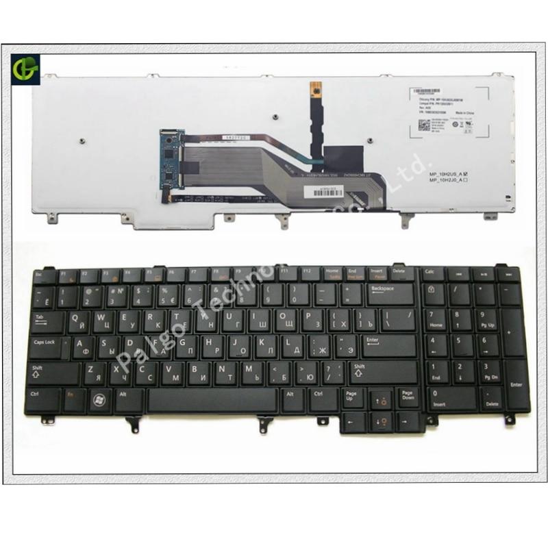 Russian Backlit Keyboard For Dell Latitude E6520 E5520 E5530 E6530 E6540 M4700 M6700 E5520M M4600 M6600 M6800 RU Trackpoint