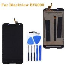 """5.0 """"dla Blackview BV 5000 wyświetlacz LCD + zestaw Digitizer z ekranem dotykowym dla Blackview BV5000 akcesoria do naprawy LCD + narzędzia"""