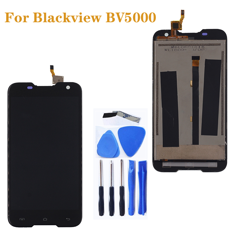 "5.0"" for Blackview BV 5000 LCD display + Touch Screen Digitizer Kit for Blackview BV5000 LCD Repair Accessories +tools-in Mobile Phone LCD Screens from Cellphones & Telecommunications"