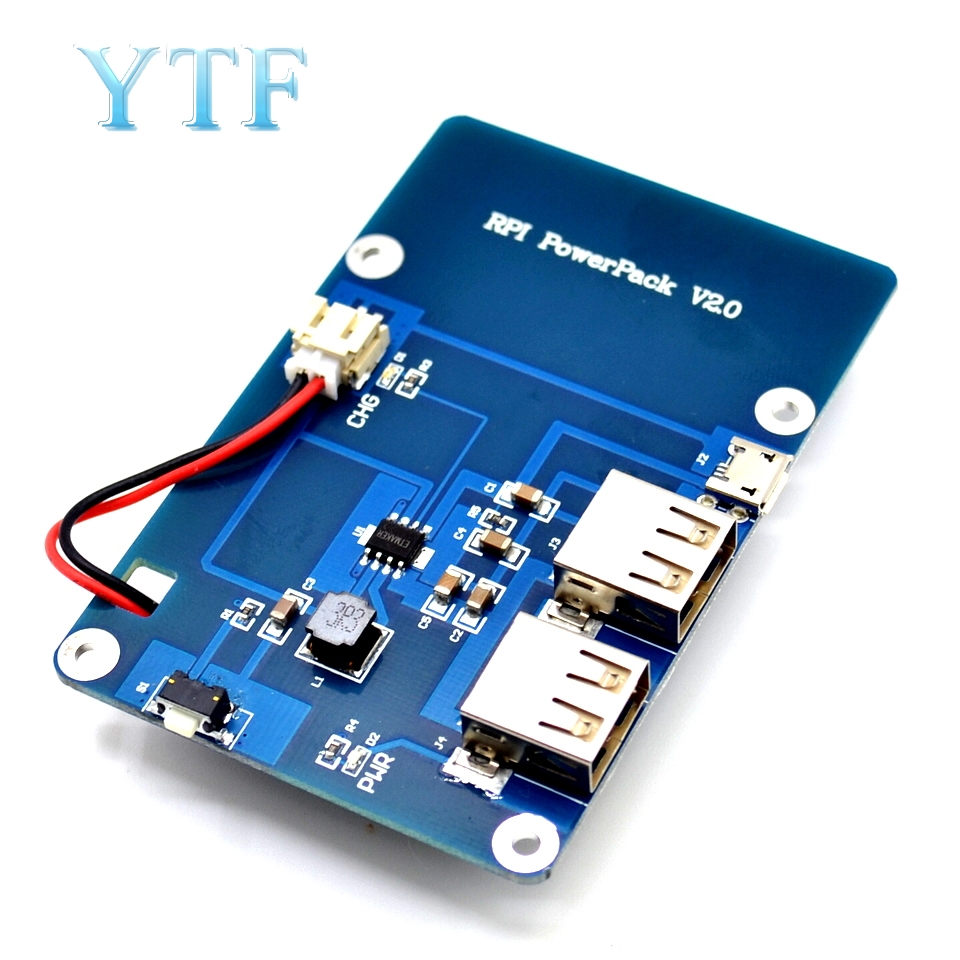 No Battery Version Lithium Pack Expansion Board Power Supply With Switch For Raspberry Pi 4 3 B+