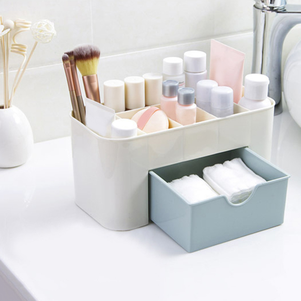 Cosmetic Jewelry Organizer Office Storage Drawer Desk Makeup Case Sundries Cosmetic Container 220*110*105mm