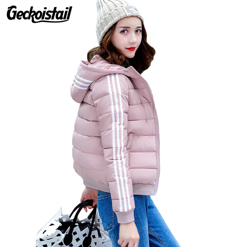 Geckoistail New Autumn Winter Jacket Coat Women Parka Woman Clothes Solid  Jacket Slim Women's Winter Jackets And Coats S-3XL olgitum new autumn winter jacket coat women parka woman clothes solid long jacket slim women s winter jackets and coats cc107